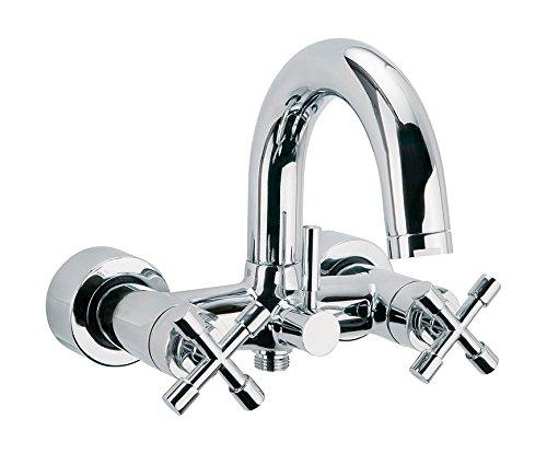 Sanitop-Wingenroth 98012515 Sydney Mitigeur monocommande pour évier, 1 pièce, chrome, 78296 8