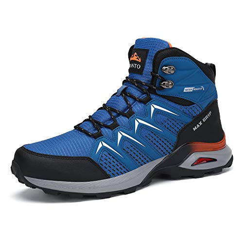Dannto Botas de senderismo para hombre, antideslizantes, para senderismo, camping, calzado deportivo, color Azul, talla 42 EU
