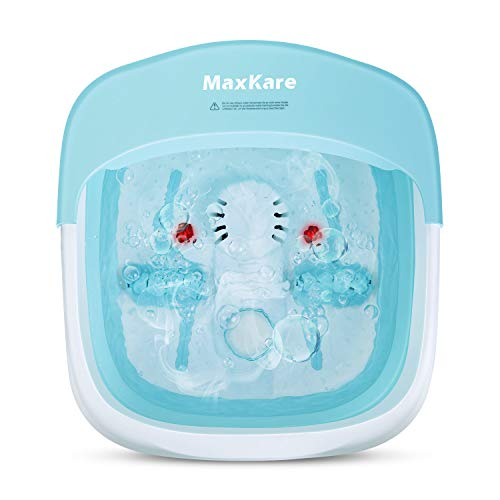 Hidromasajeador de pies, plegable, masaje con burbujas, vibraciones e infrarrojos, calentamiento del agua