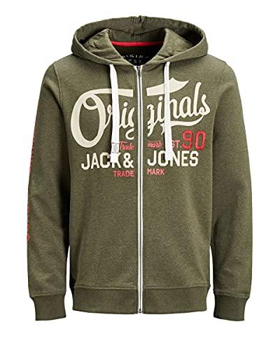 Jack & Jones Jorgrin Sweat à capuche zippé - Vert - Large