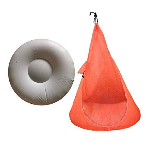 MERIGLARE Silla Plegable para Niños con Hamaca con Cómodos Asientos Colgantes para Patio - Naranja, Individual