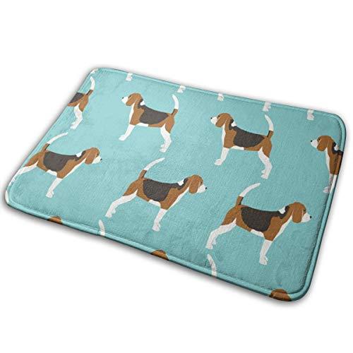 surce Deurmat Beagles Huisdier Honden Beagle Huisdieren Blauw Klassieke Hond Stof 16x24 inch Welkom Mat met Anti-Slip Rubber