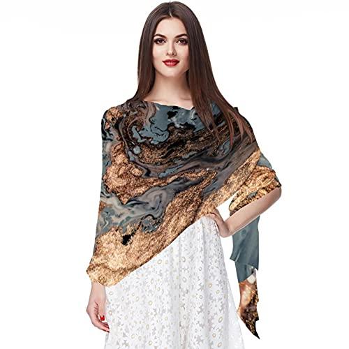 WJJSXKA Bufandas de gasa suave, chales, abrigos para vestidos, accesorios de mujer, arte de lujo, estilo oriental