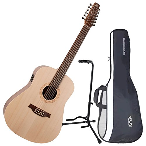 Seagull Excursion Walnut 12-String Acoustic Electric Guitar w/ Gig Bag and Stand