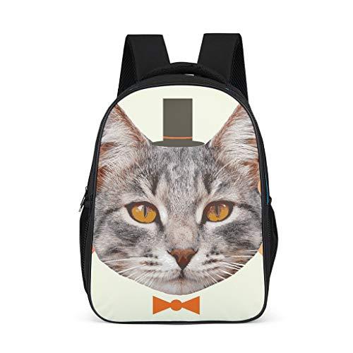 Katze Mode Kinderrucksack Schulbuchtasche Rucksack für Kinder Erwachsene Geschenk...