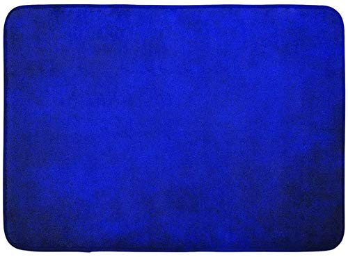 AoLismini Fußmatten Bad Teppiche Outdoor/Indoor Fußmatte Lila Lebendige Königsblau Schwarz Grenze Kühle Farbe Vintage Abstrakte Farbverlauf Wandfarbe Helle Badezimmer Dekor Teppich Badematte