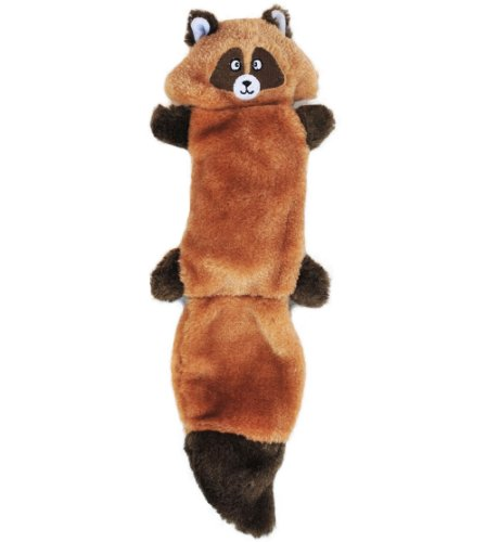 ZippyPaws - Zingy No Stuffing Durable Squeaky Plush Dog Toy - Raccoon