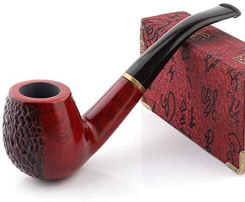 Rohr Rohrholz Handmade Red Sandalwood Abnehmbare 9mm gebogener Griff Rauchen (Size : 2)