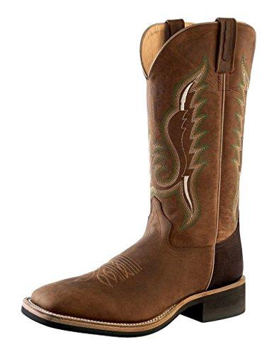 Old West Men's Cowboy Boot Square Toe Brown 10.5 D(M) US