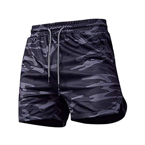 Mymyguoe Pantalones Cortos Deportivos para Hombre de Alto Rendimiento,Verano Casual Deportes Cinco Puntos Pantalón Pantalones Cortos de Cinco Puntos para Hombre Estilo Informal,