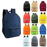 24 Pack - 17' Wholesale Backpacks in Randomly Assorted Colors - Case of Bulk Bookbags