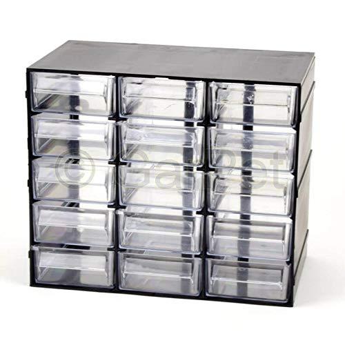 Sortimentskasten 15 Fach Schubladen Organizer Kleinteilemagazin Sortimentsboxen