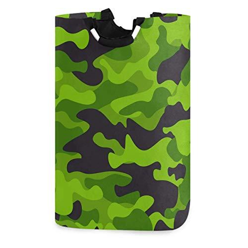 N\A Camouflage Wäschekorb, wasserdichter und Faltbarer Wäschesack mit Griffen für Baby Nursery College Dorms Kinderzimmer Badezimmer