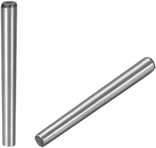 uxcell Carbon Steel GB117 40mm Length 10mm X 10.8mm Small End Diameter 1:50 Taper Pin 5Pcs