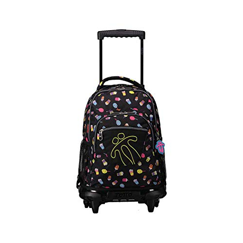 Totto RENGLONES Backpack with Wheels, Children, Multi-Colour, One Size