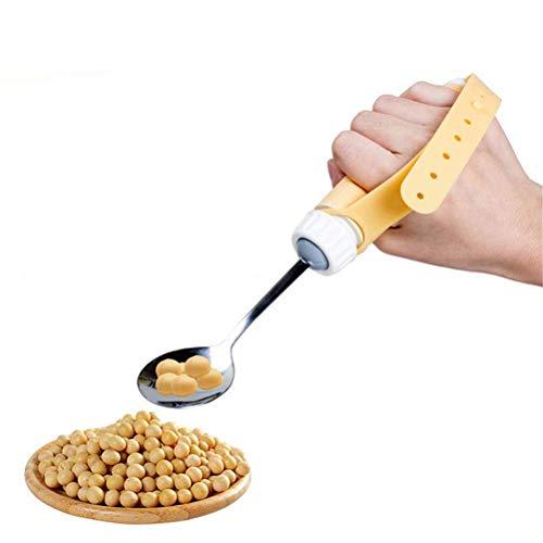 FXQ Ältere Hilfs Geschirr, Anti-Vibration Anti-Shake Löffel Stäbchen Gabel Anti-Streuen Bowl für Patienten mit Parkinson-Krankheit ist Selbst Stable für ältere Menschen,Spoons