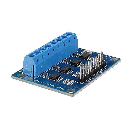 xingxing Antriebsmodul 10 Stück 4-Kanal HG7881 Chip H-Brücke DC 2,5–12 V Schrittmotor-Treibermodul Controller Leiterplatte 4-Wege 2-Phasenantriebsmodul Antriebsmodul