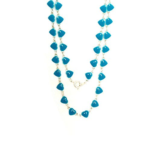 WL Fashion Halskette für Kinder mit Herzen-Motiv in hellblau 030-00348