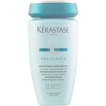 Kerastase Shampoo Resistance Bain Force Architecte para cabellos debilitados y dañados , 500 ml