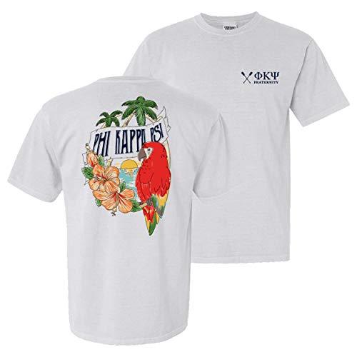 Phi Kappa Psi Fraternity Greek Comfort Colors Tropical Tee Phi Psi White