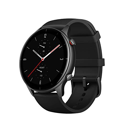 Amazfit GTR 2e Smartwatch for Men Women with Alexa & GPS, Fitness Tracker with 90 Sports Modes, 24 Day Battery Life, Blood Oxygen Heart Rate Monitor, Waterproof, for iPhone Android Phones, Black