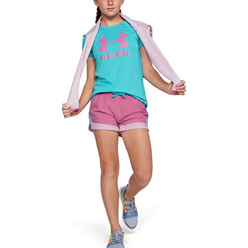 Under Armour Sprint Shorts Pantaloncini, Pace Pink (669)/Blu mozzafiato, L Bambina