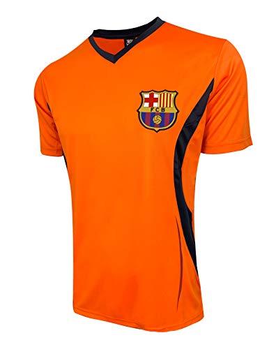 Rhinox Barcelona Training Jersey, Licensed Barcelona Shirt (X-Large) Orange