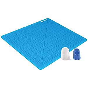 3D Printing Pen Silicone Design Mat with Basic Template, with 2 Silicone Finger Caps, Great...