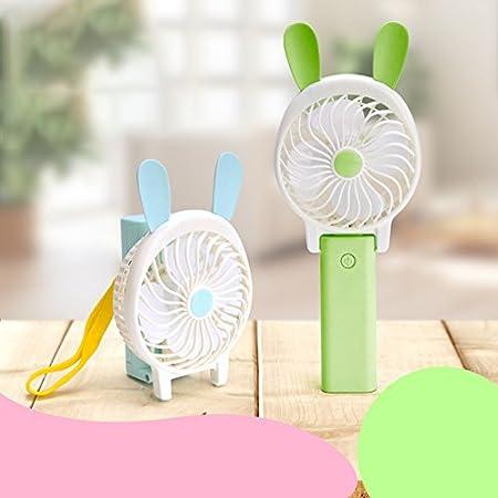 Yonger Foldable Small Fan Mini Handhled Fan Summer Cooling Fan USB Charging Fan Portable Battery Fan Pink Office Quiet Fan
