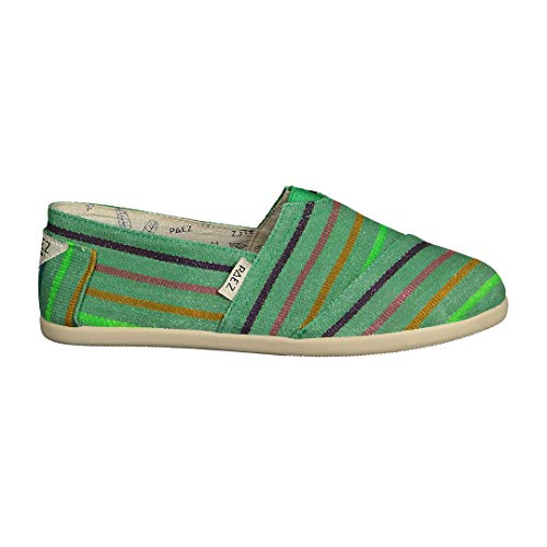 PAEZ Classic Gum Stripes, Alpargatas para Mujer, Verde (Green 035), 34 EU