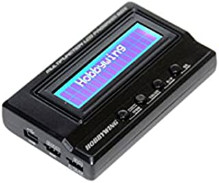 HobbyWing Multifunction LCD Professional Program Box, ESC Programmer, LiPo Battery Voltmeter, USB Adapter