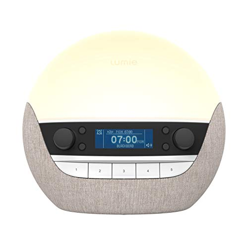 Lumie Bodyclock Luxe 700FM - Wake-Up Light with FM Radio, Bluetooth Speakers & Low-Blue Light for Sleep