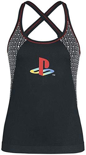 Preisvergleich Produktbild Playstation Retro Frauen Top schwarz M 92% Polyamid,  8% Elasthan Fan-Merch,  Gaming,  Retrogaming,  Sport