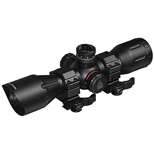 "UTG 4X32 1"" Crossbow Scope, Pro 5-Step RGB Reticle, QD Rings"