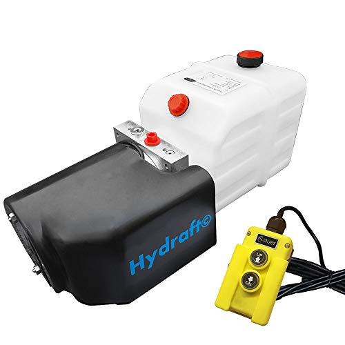 Hydraulikaggregat Hydraft, Hydraulikpumpe 12 V 180 bar 2000 Watt mit 4 Liter Tank und Kabelfernbedienung