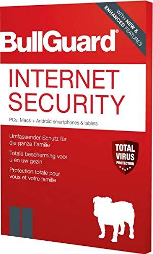 Bullguard Internet Security 2020 3U W/A/M Jahreslizenz, 3 Lizenzen Windows, Mac, Android Sicherheits-Software