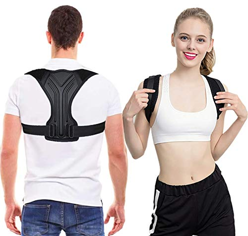 Posture Corrector for Men and Wome - Stylish & scientific Ergonomic Back Straightener Brace Providing Pain Relief from Neck, Back and Shoulder, 2020 New Upgraded Breathable Back Straightener-L