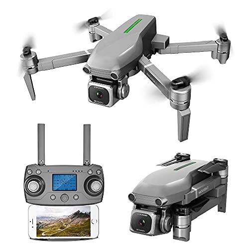 DCLINA Droni GPS con Fotocamera 4K e Zoom 50x, Video Live FPV WiFi a 5 GHz con Fotocamera grandangolare Regolabile, correzione Intelligente Anti-Shake, 2 batterie