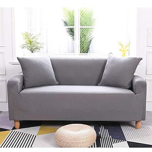 Funda elástica impermeable para sofá (gris, 185 x 230 cm)