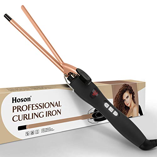 9mm Thin Curling Iron Ceramic, 3/8 Inch Small Barrel Curling Wand for...