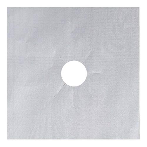 Color Yun Cubierta Protectora de Aceite para encimera de Gas Lámina Antiadherente Estufa Alfombrilla Limpia Utensilios de Cocina (Plata)