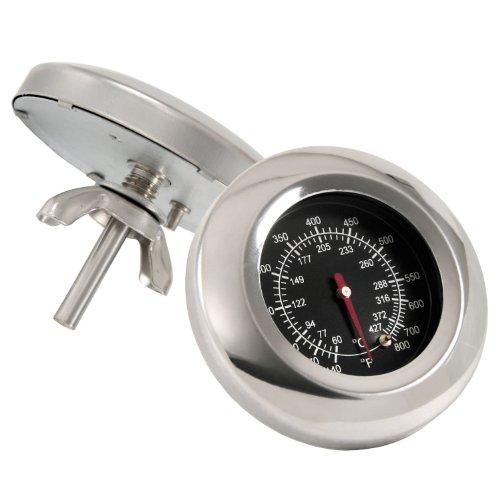 BBQ-Toro Grillthermometer bis über 400 °C, Thermometer für alle Grills, Smoker, Räucherofen und Grillwagen, analog, Grillzubehör