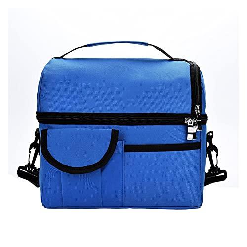 XIN NA RUI Bolsa TéRmica Bolsa de Almuerzo Bolsa térmica aislada Reutilizable Mujeres Multifuncional 8l Cooler y cálido Mantener el Almuerzo A Prueba de Agua Impermeable (Color : Blue)