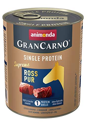 animonda Gran Carno adult Single Protein Hundefutter, Nassfutter für ausgewachsene Hunde, Ross pur, 6 x 800 g, 6er Pack (6 x 0.8 kilograms)