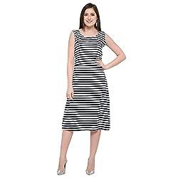 fmania Women Tunic Short Dress for Jeans Plain Diamond Creap Dress Casual Women/Girls Dress Black