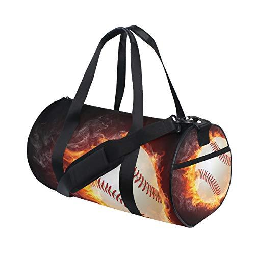 Eslifey Baseball-Tasche mit Feuerflammenmotiv, für Damen und Herren