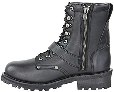 10 Vulcan V-117 Mens Rage Motorcycle Leather Boots