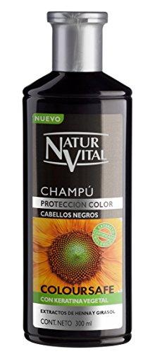 Hair Shampoo Henna Black - Colour and Shine - 300 Ml / Natural & Organic