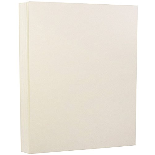JAM PAPER Strathmore 24lb Paper - 90 gsm - 8.5 x 11 - Natural White Linen - 100 Sheets/Pack