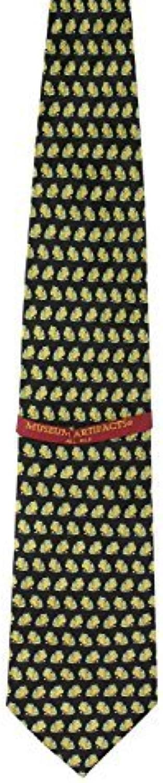 268f748c6e Men's Men's Men's 100% Silk Black & Green Frog Repeat Tie Necktie cef557